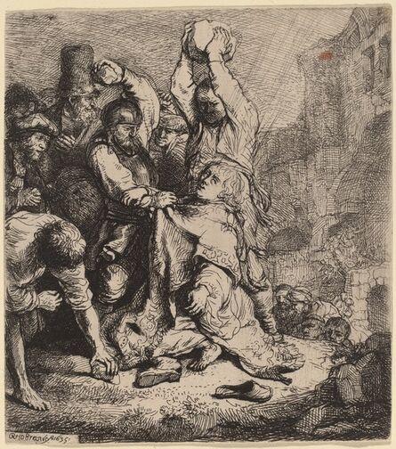 Rembrandt van Rijn, 'The Stoning of Saint Stephen', 1635