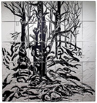 Daniel Heyman, 'Winter: Artist Engages (right panel detail)', 2012