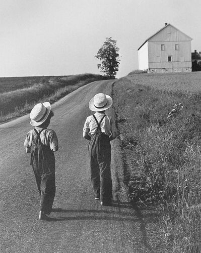 George Tice, 'Two Amish Boys, Lancaster, PA', 1961