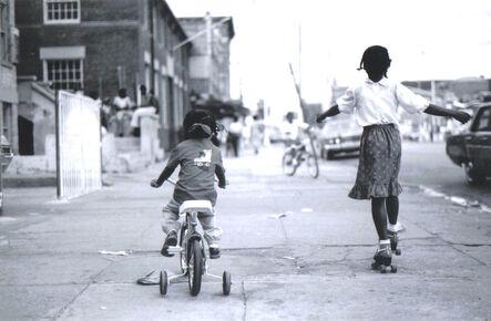 Jamel Shabazz, 'Girls on Bike and Skates', ca. 1980