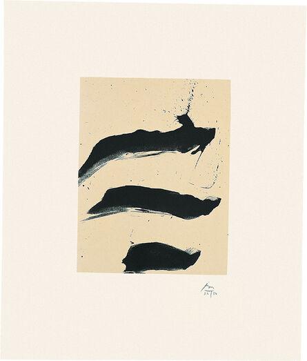 Robert Motherwell, 'Octavio Paz Suite: Nocturne VII', 1988