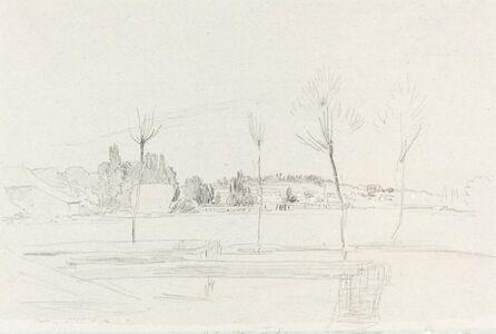 John Linnell, 'Landscape in Hertfordshire', 1814