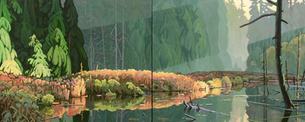 Clayton Anderson, 'Beaver Pond (Diptych) '