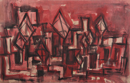 Rasheed Araeen, 'Windcatchers in Pink', 1963