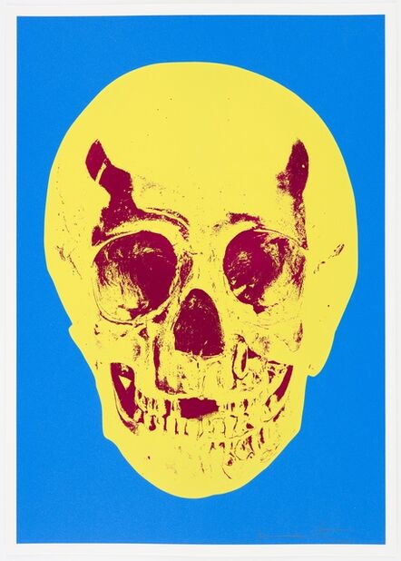 Damien Hirst, 'Cerulean Blue Pigment Yellow Royal Red Pop Up Skull ', 2012