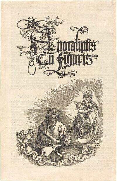 Albrecht Dürer, 'The Virgin Appearing to Saint John', 1510/1511