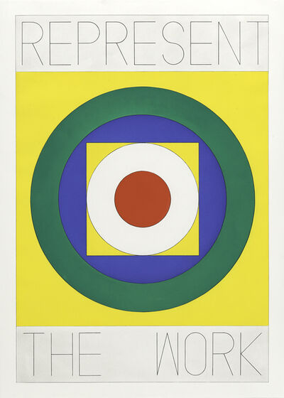 Matt Mullican, 'REPRESENT THE WORK, Logo', 2020