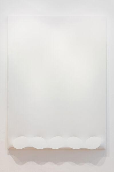 Turi Simeti, 'Cinque ovali in bianco', Cinque ovali in bianco