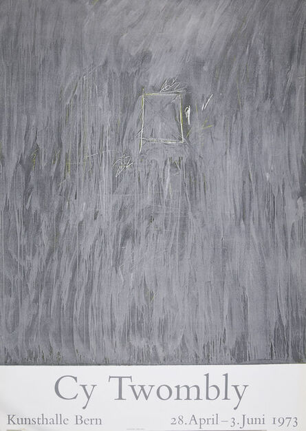 Cy Twombly, 'Kunsthalle Bern poster', 1973