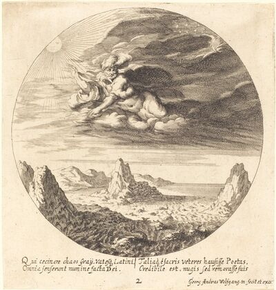 Georg Andreas Wolfgang, the Elder, 'God Creating Order from Chaos', 1665