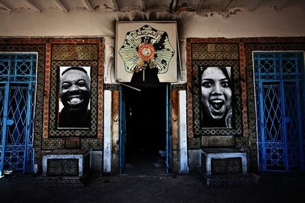 JR, 'INSIDE OUT - Tunisia, Front of the Police Station of La Goulette', 2011
