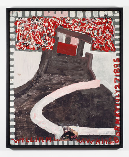 William Hawkins, 'Sleeping Figure With Castle', 1987