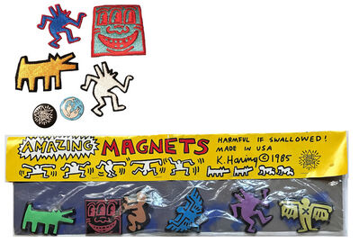Keith Haring, 'POP SHOP COLLECTION- Patches, Pins, and Puffy Magnets, 1980's, RARE', 1980's