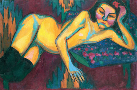 Sonia Delaunay, 'Yellow Nude', 1908