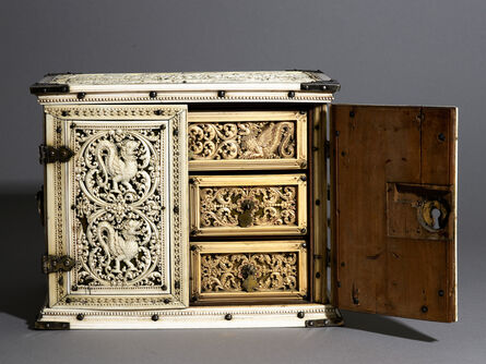 'Cabinet (with an elephant hunt and the island of Matara)', 1660-1670