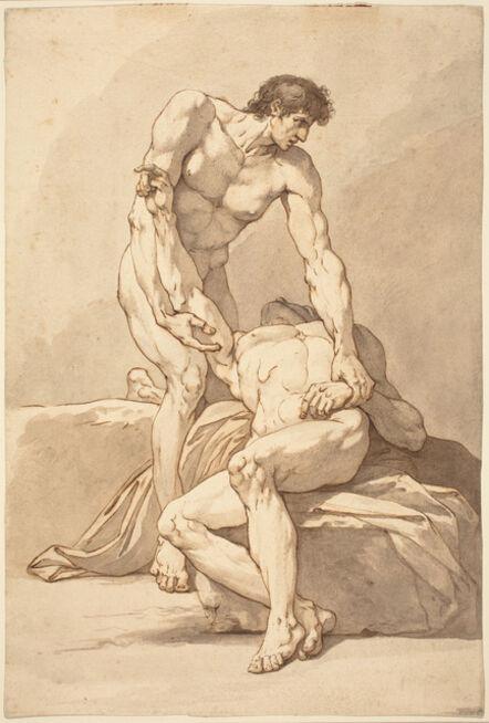 Johann Heinrich Lips, 'Two Naked Men'