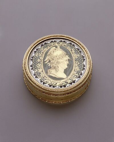'Round Box with Catherine II as Minerva', 1781-1782