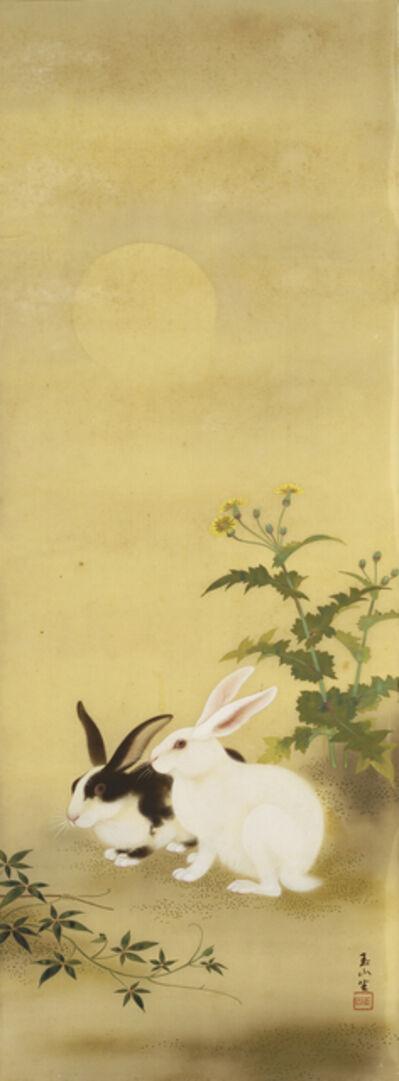 Lin Yu-Shan 林玉山, 'Hares at Night', 1939