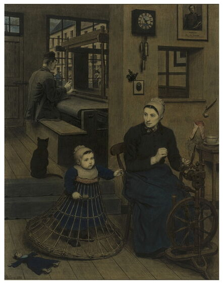 Xavier Mellery, 'Interieur flamand, le tisserand (Flemish Interior. The Weaver)', 1884