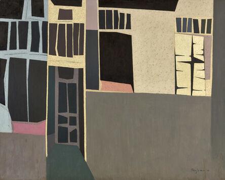 Karl Benjamin, 'Cube Buildings', 1954