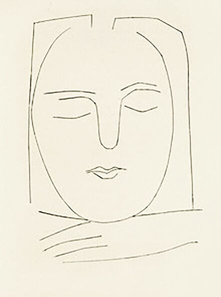 Pablo Picasso, 'Oval Head of a Woman with Square Hair (Plate XX)', 1949