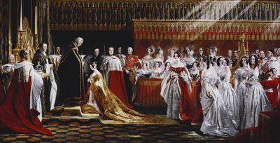 Charles Robert Leslie, 'Queen Victoria Receiving the Sacrament at her Coronation, 28 June 1838', 1838-1839