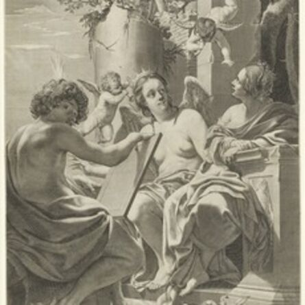 Claude Mellan after Simon Vouet, 'Allegory of Intellect, Memory, and Will', 1625