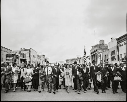 Steve Schapiro, 'Selma March Entering Montgomery (Martin Luther King, Jr., Coretta Scott King, Rosa Parks and Others)', 1965