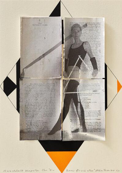 """Valérie Favre, 'Als eine abstrakte Komposition über """"Ein Zimmer für sich allein"""" I', 2019"""