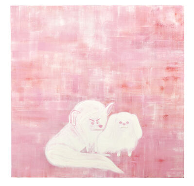 Abdul Vas, 'Leona Blanca & Pekingese', 2017