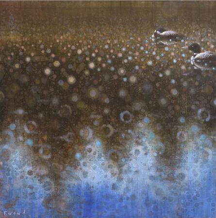 Ewoud De Groot, 'Loons in Tree Reflection'