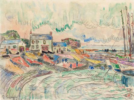 Paul Signac, 'Ile de Groix, le nettoyage des voiles', 1923