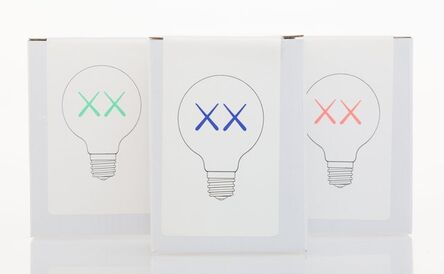 KAWS, 'Light Bulb Set for The Standard (Red, Purple, and Green)', 2011