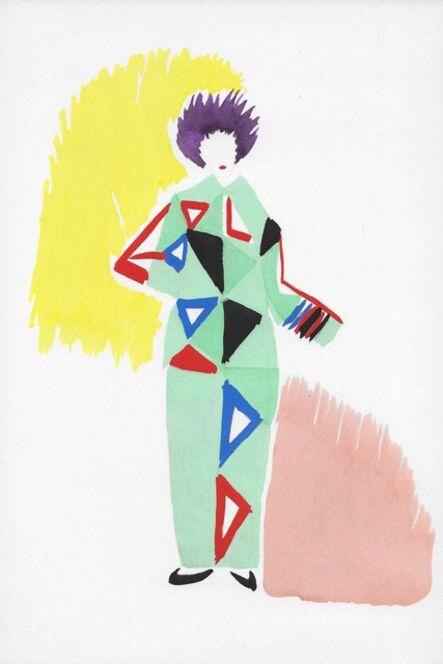 Sonia Delaunay, 'Projet de pyjama pour un bal', 1969