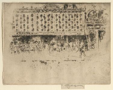 Joseph Pennell, 'Brasserie, Au Lion Rouge', 1893