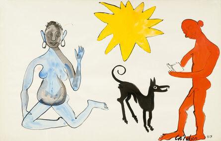 Alexander Calder, 'Couple with black dog', 1967
