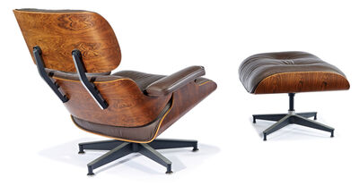 Charles and Ray Eames, 'Lounge chair & ottoman (2)', Designed 1956; this example executed before 1995