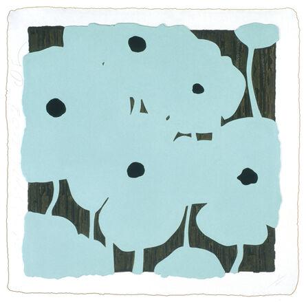 Donald Sultan, 'Blue Flowers', 2003
