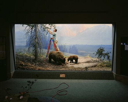 Richard Barnes, 'Mountain Scene with Man and Bears', 2005
