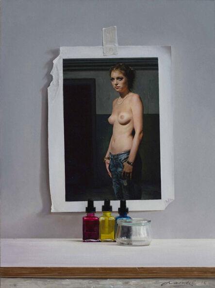 Peter Handel, 'Karina mit Rissen', 2015