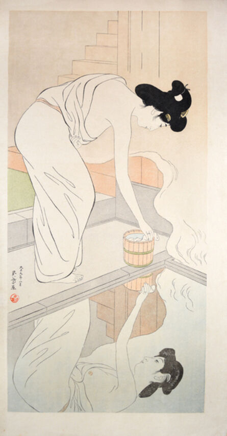 Goyo Hashiguchi, 'Woman at the Hot Spring', 1920