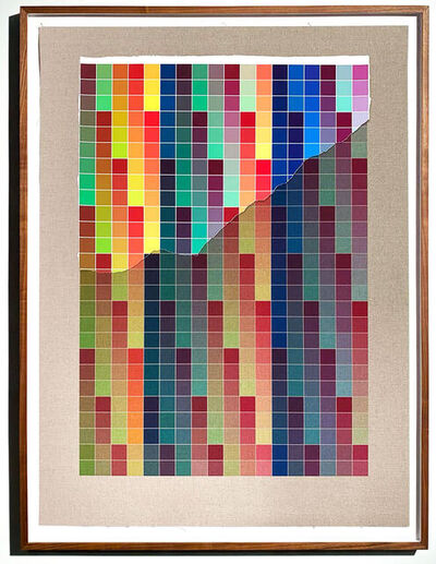 Analía Saban, 'Transcending Pigment from Paint to Canvas, from Canvas to Paint (Color #3) No. IV', 2020