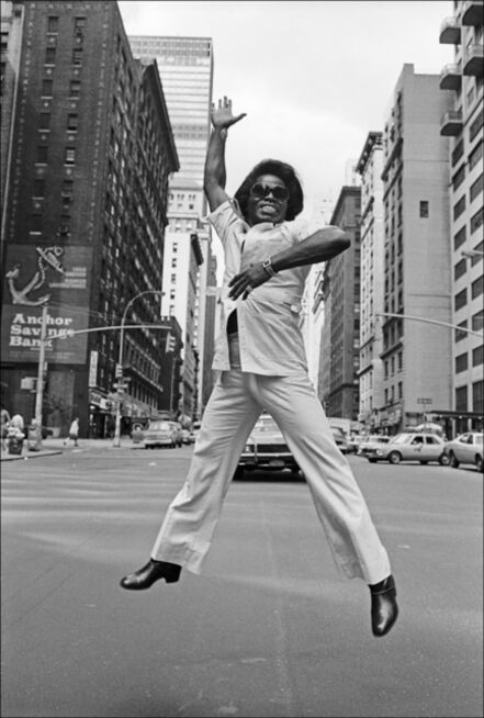 Allan Tannenbaum, 'James Brown Jumps on Broadway, New York City', 1979