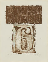 "Jasper Johns, '6 from the portfolio ""0-9""', 1963"