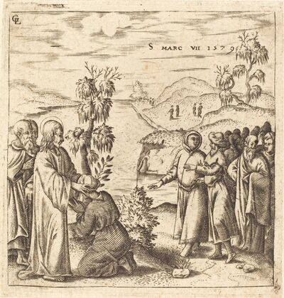 Léonard Gaultier, 'Christ Healing a Deaf Man', 1579