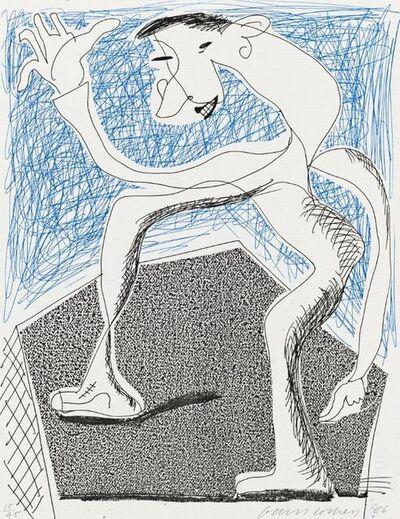 David Hockney, 'Waving', 1986