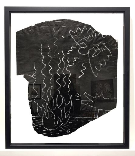 Keith Haring, 'Untitled (Angel and Barking Dog at Camp Fire)', 1982