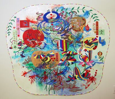 Jiha Moon, 'Big Pennsylvania Dutch Korean Painting', 2011