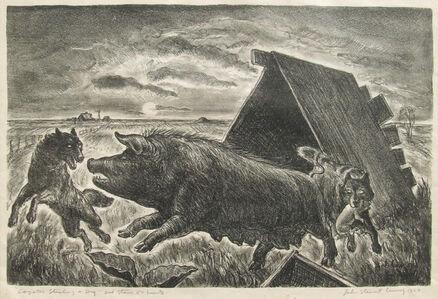 John Steuart Curry, 'Coyotes Stealing a Pig', 1927