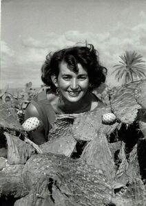 David Seymour, 'vintage print/Woman with cactus, Israël,', 1951-1954